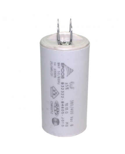 Condensador lavadora permanente 8 MF / 450V