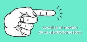 Localiza el modelo de un electrodoméstico